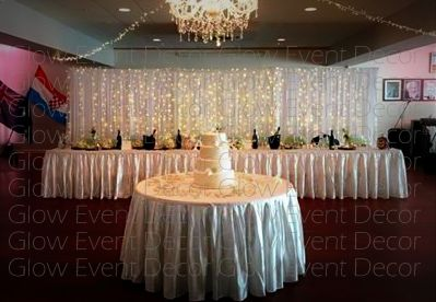 DIY fairy light twinkle wedding bridal backdrop for hire in Adelaide Glow Event Decor