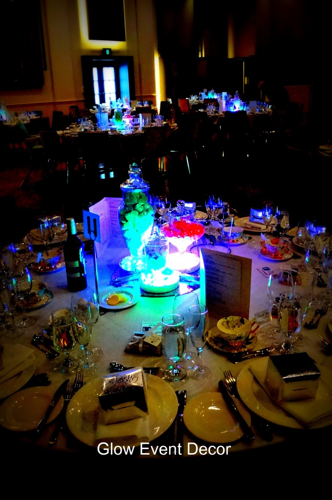 LED candy/lolly jar centrepieces