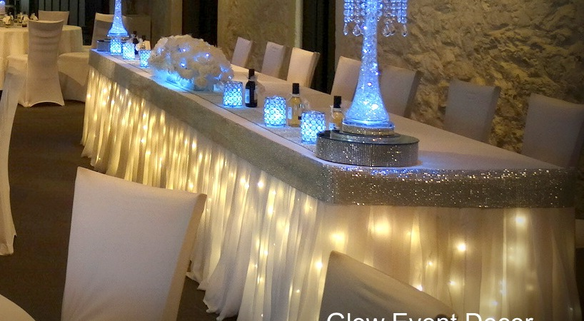 Superbe Twinkle Light Bridal Skirting With Chiffon Overlay U0026 Diamante Edging For  Hire In Adelaide From Glow