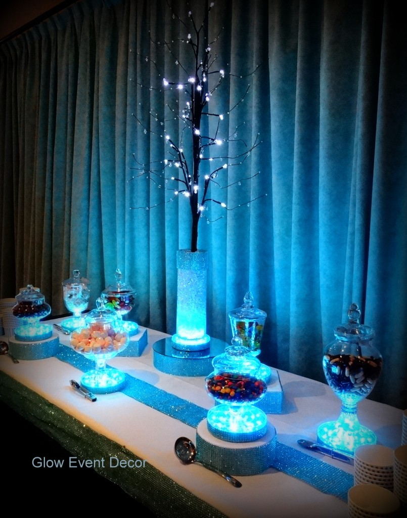 LED candy buffet package, with LED branch centrepiece