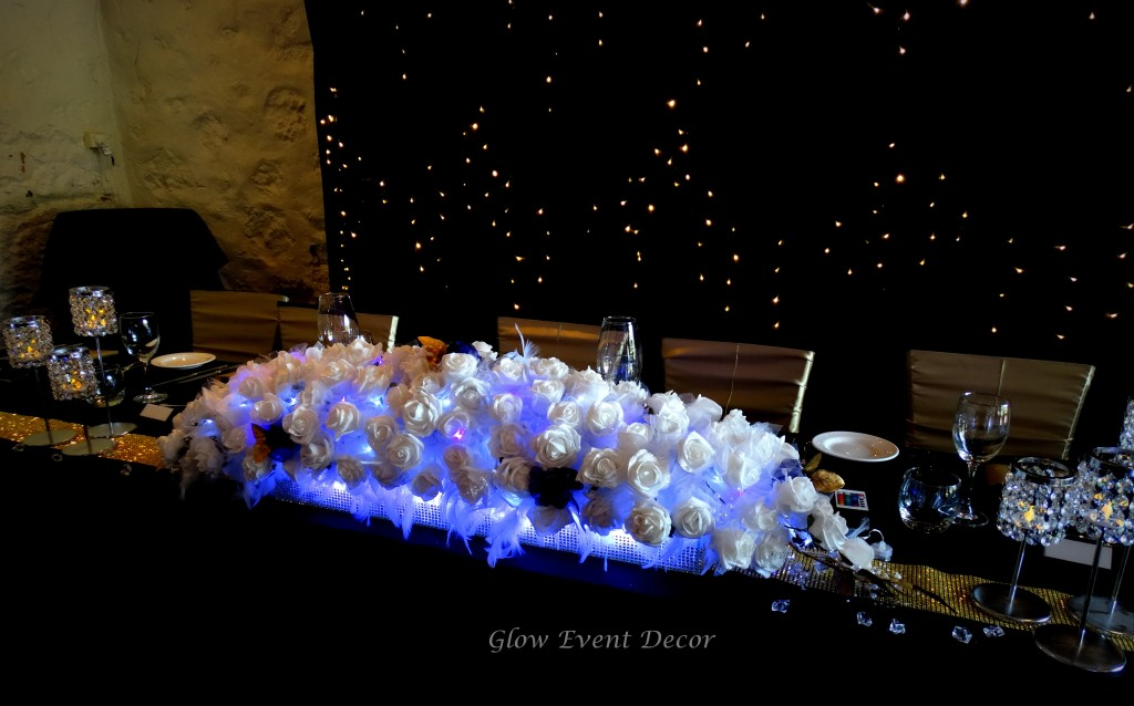 Low Line Bridal Table Centrepiece