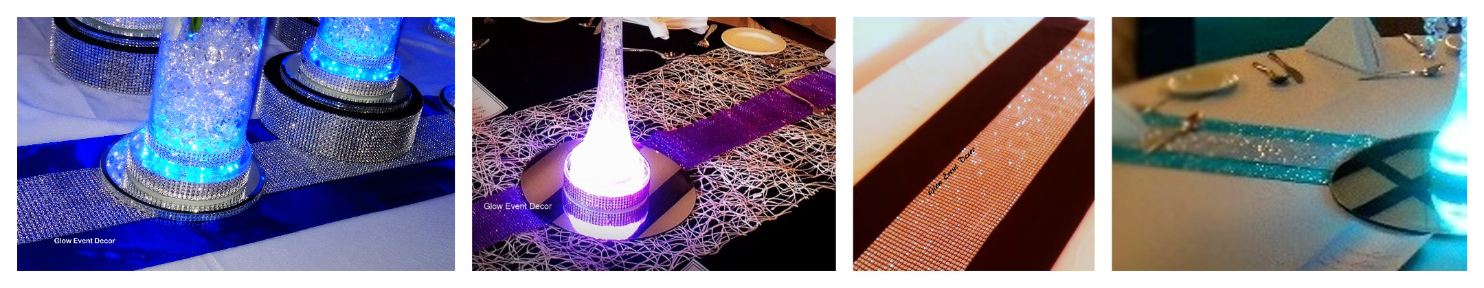 diamante table runners
