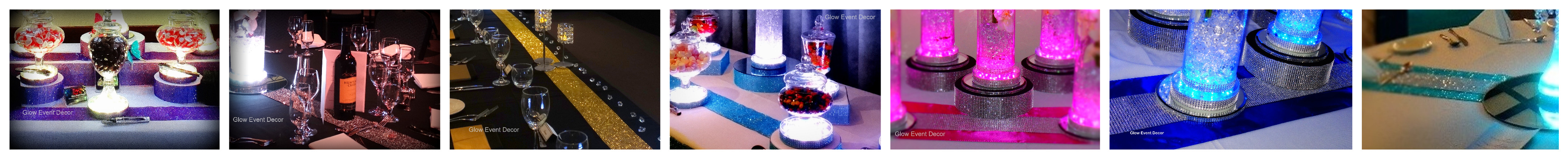 joined image diamante table runners