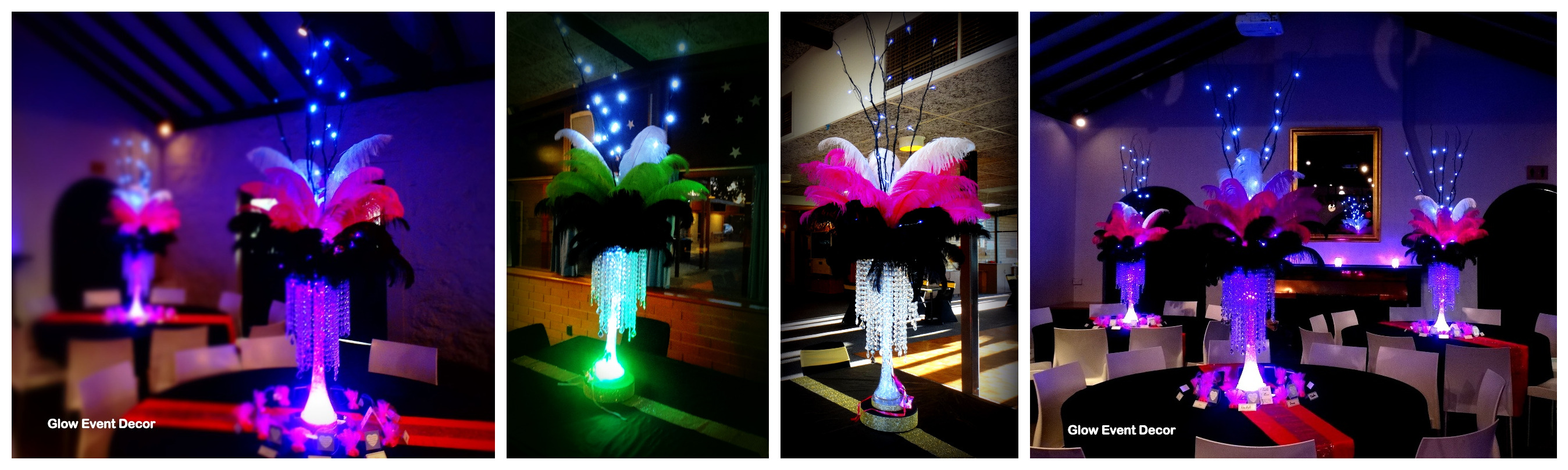 Ostrich Feathers Glow Event Decor