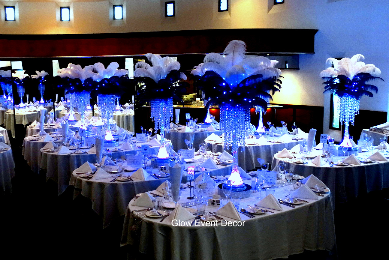 gallery glow event decor
