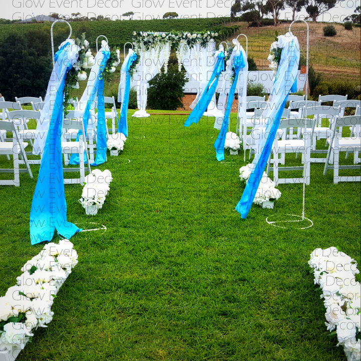 eremony bridal backdrop ivy greenery floral flowers wisteria arch and matching floral signing table